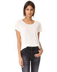 Camiseta con cuello circular blanca de Current/Elliott