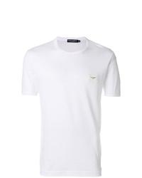 Camiseta con cuello circular blanca de Dolce & Gabbana