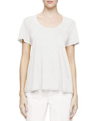 Camiseta con cuello circular blanca de Eileen Fisher