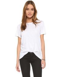 Camiseta con cuello circular blanca de Feel The Piece