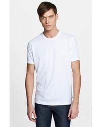 Camiseta con cuello circular blanca de James Perse