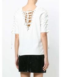 Camiseta con cuello circular blanca de McQ Alexander McQueen