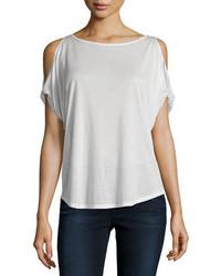 Camiseta con cuello circular blanca de Rag & Bone