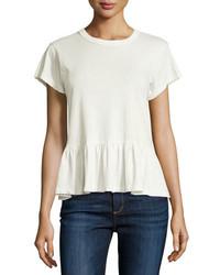 Camiseta con cuello circular blanca de The Great