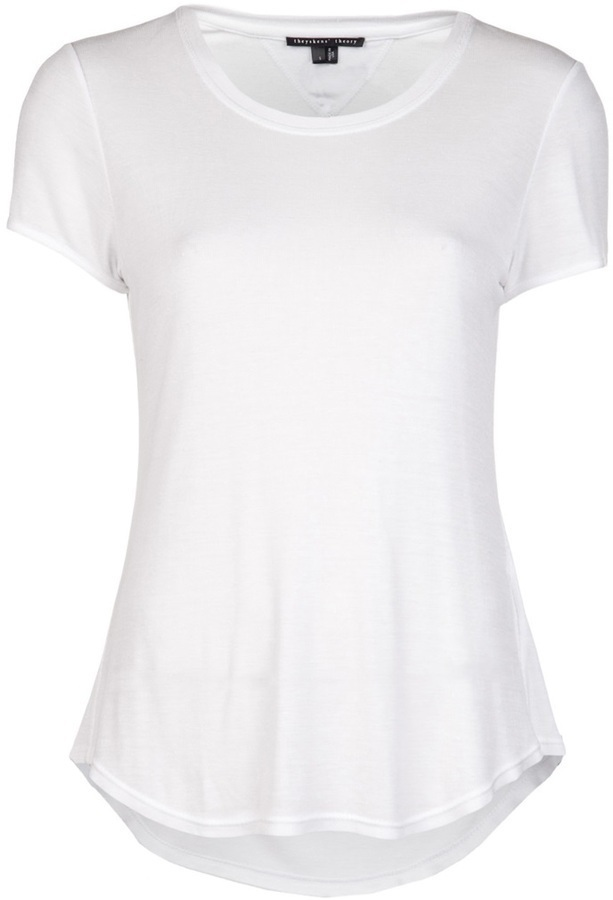 Camiseta con cuello circular blanca de Theyskens' Theory