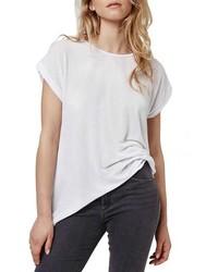 Camiseta con cuello circular blanca de Topshop