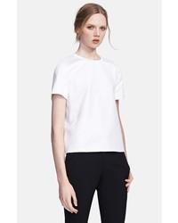 Camiseta con cuello circular blanca de Valentino