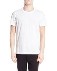 Camiseta con cuello circular blanca de Vince
