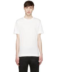 Camiseta con cuello circular blanca de Y-3