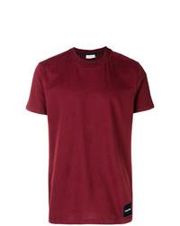 Camiseta con cuello circular burdeos de Calvin Klein