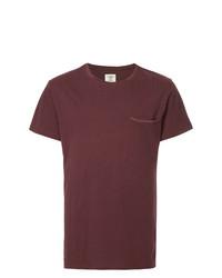 Camiseta con cuello circular burdeos de Kent & Curwen