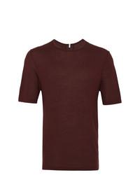 Camiseta con cuello circular burdeos de Lot78