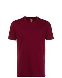 Camiseta con cuello circular burdeos de Polo Ralph Lauren