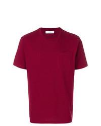 Camiseta con cuello circular burdeos de Pringle Of Scotland