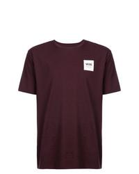 Camiseta con cuello circular burdeos de Wood Wood