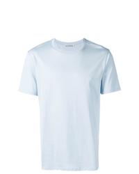 Camiseta con cuello circular celeste de Acne Studios