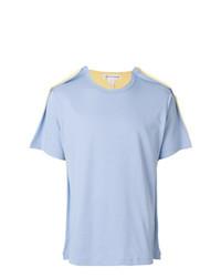 Camiseta con cuello circular celeste de Comme Des Garcons SHIRT
