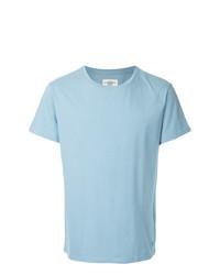 Camiseta con cuello circular celeste de Kent & Curwen