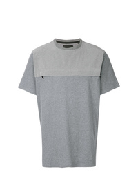 Camiseta con cuello circular con adornos gris de Blood Brother