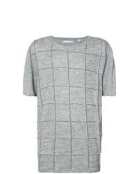 Camiseta con cuello circular con adornos gris de Private Stock