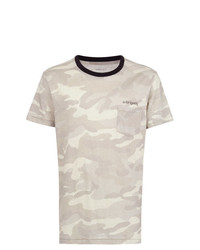 Camiseta con cuello circular de camuflaje gris de OSKLEN