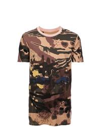 Camiseta con cuello circular de camuflaje marrón de 11 By Boris Bidjan Saberi