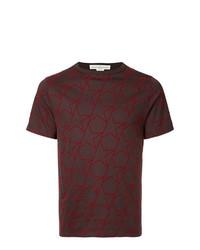 Camiseta con cuello circular de estrellas burdeos de Golden Goose Deluxe Brand