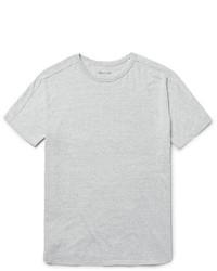 Camiseta con cuello circular de punto gris