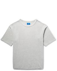 Camiseta con cuello circular de punto gris de Beams