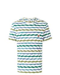 Camiseta con cuello circular de rayas horizontales blanca de Missoni Mare