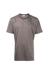 Camiseta con cuello circular de rombos marrón de Cerruti 1881