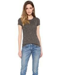 Camiseta con cuello circular en gris oscuro de Rag and Bone