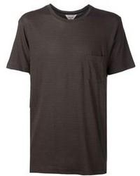 Camiseta con cuello circular en marrón oscuro de Rag and Bone