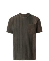 Camiseta con cuello circular en marrón oscuro de Uma Wang