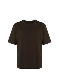 Camiseta con cuello circular en marrón oscuro de Unravel Project