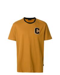 Camiseta con cuello circular en tabaco de Calvin Klein Jeans