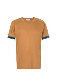 Camiseta con cuello circular en tabaco de Cerruti 1881