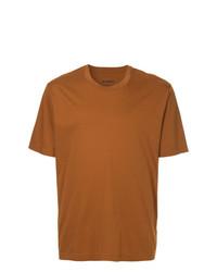 Camiseta con cuello circular en tabaco de Jil Sander