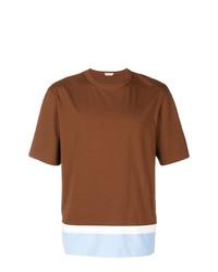 Camiseta con cuello circular en tabaco de Marni