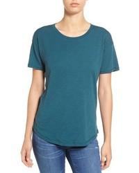 Camiseta con cuello circular en verde azulado de Madewell