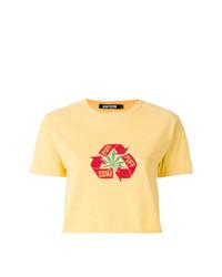 Camiseta con cuello circular estampada amarilla de Adaptation