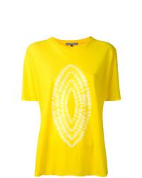 Camiseta con cuello circular estampada amarilla de Suzusan