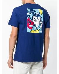 Camiseta con cuello circular estampada azul de Vans