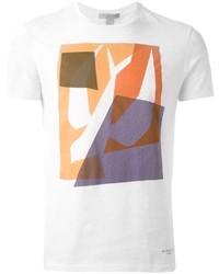Camiseta con cuello circular estampada blanca de Burberry