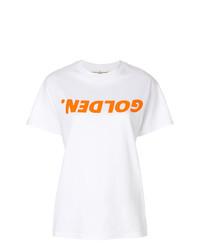 Camiseta con cuello circular estampada blanca de Golden Goose Deluxe Brand