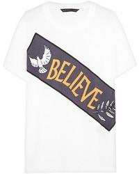 Camiseta con cuello circular estampada blanca de Marc by Marc Jacobs