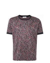 Camiseta con cuello circular estampada burdeos de Cerruti 1881