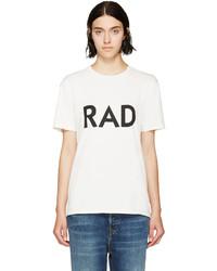 Camiseta con cuello circular estampada en blanco y negro de 6397