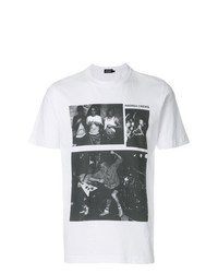 Camiseta con cuello circular estampada en blanco y negro de Andrea Crews