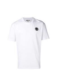 Camiseta con cuello circular estampada en blanco y negro de McQ Alexander McQueen